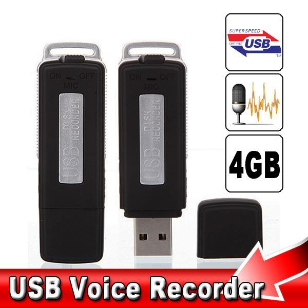 2 in 1 Mini 4GB USB Pen Flash Drive Disk Digital Hide Audio Voice Recorder 70 Hours Sound Rechargeable Recording Dictaphone(China (Mainland))