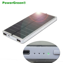 Buy PowerGreen Slim Power Bank 10000mAh Enternal Battery Solar Charger Backup Power Supply Mini Solar Panel Phones for $26.51 in AliExpress store