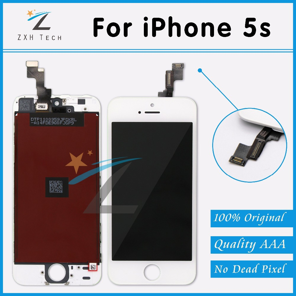 10 PCS/LOT AAA Replacement LCD for iPhone 5S Display Clone with OEM Touch Screen Digitizer Assembly Free DHL Ship(China (Mainland))