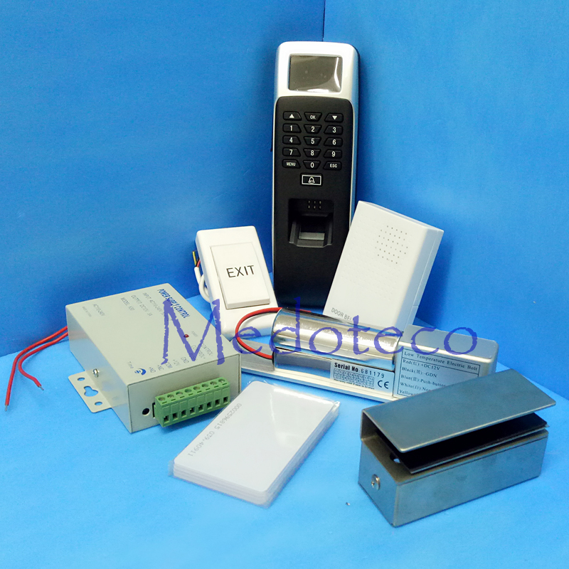 DIY Glass Door Access Control Kit Fingerprint & Rfid Card Door Security Access Control System With Low temperature Bolt Lock(Hong Kong)