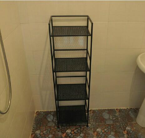 Iron bathroom shelf storage rack bookcase shoe multifunction Nordic Black White<br><br>Aliexpress