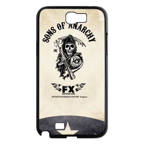 Sons of Anarchy Logo FX Case for Samsung Note 2 Design Phone Cases(China (Mainland))