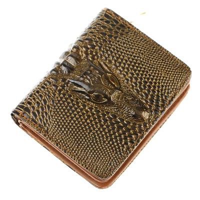 New Women pu leather wallets Crocodile 3D purse wholesale fashion wallets women vintage clutches carteiras femininas BW35(China (Mainland))