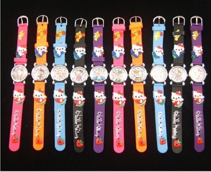 10PCS New Hellokitty children kids boys girls Cartoon quartz watch Christmas gift, Childrens day gife(China (Mainland))