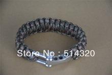 B043  CAMO adjustable shackle 550 Paracord Survival Bracelet 21~23cm  7 stand Parachute cord(China (Mainland))