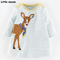 Little maven kids brand clothing 2016 new autumn girls clothes Cotton small deer embroidered girl A