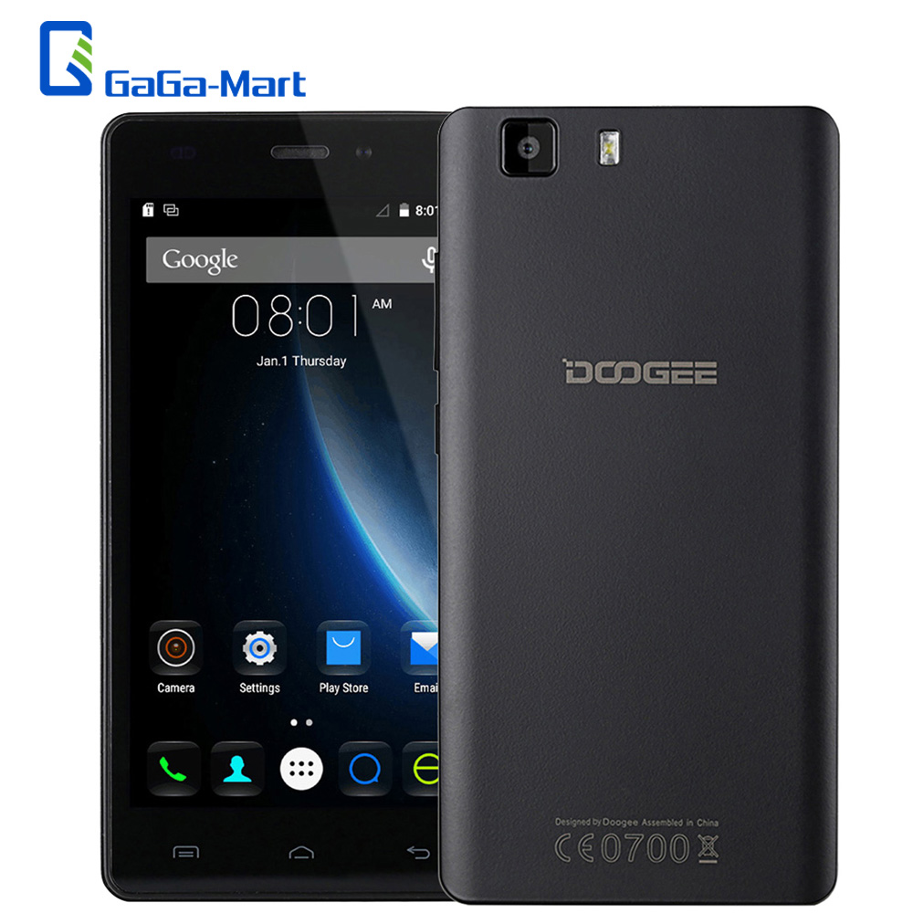 """In Stock Original DOOGEE X5S 4G MT6735 64bit Quad Core Smartphone Android 5.1 1G+8G 5MP 8MP Dual CAM Smart Gesture 5.0"""" HD Phone(China (Mainland))"""