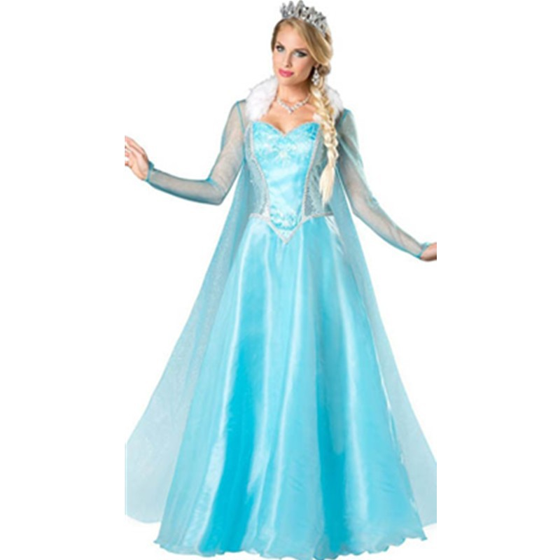 Popular Movies Grownup Sexy Costume Sexy Cosplay Costumes Blue Ice Elsa Snow Princess Costume Grownup Dress Up Costumes L15242 L15242 (3) 800x800