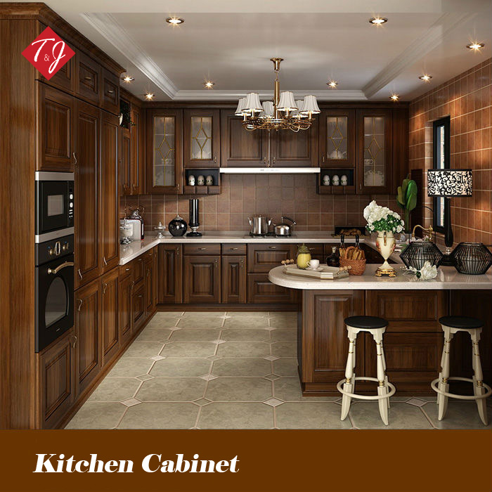 Old Style Kitchen Cabinet Doors: Free Design Classic Style Antique Wooden Kitchen Cabinet