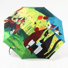 oil painting cat pattern sun rain Umbrella rain women 3 Folding Thickening Anti UV fashion hot selling abstract art,SKU 04A1C02(China (Mainland))