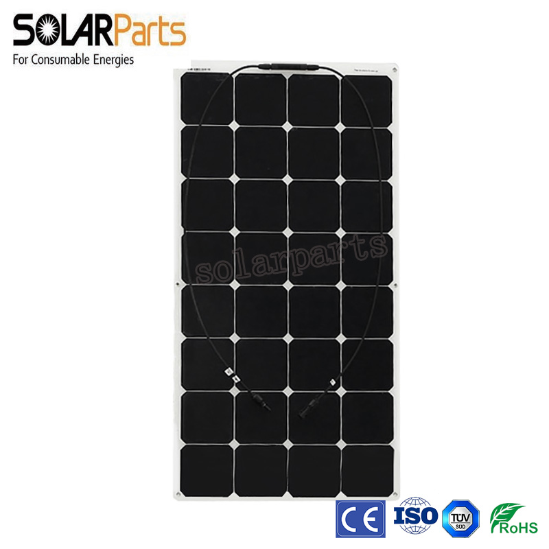 Solarparts 1pcsx100W Factory Cheap 12V flexible PV solar panel cell/module/system / charger battery light kit led out(China (Mainland))