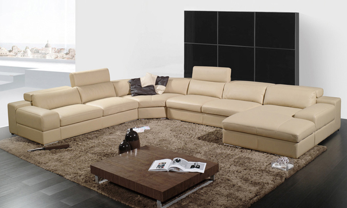 2013 latest house designs Moden leather sofa large size U shaped corner sofa best furniture for living room LCA002-2(China (Mainland))