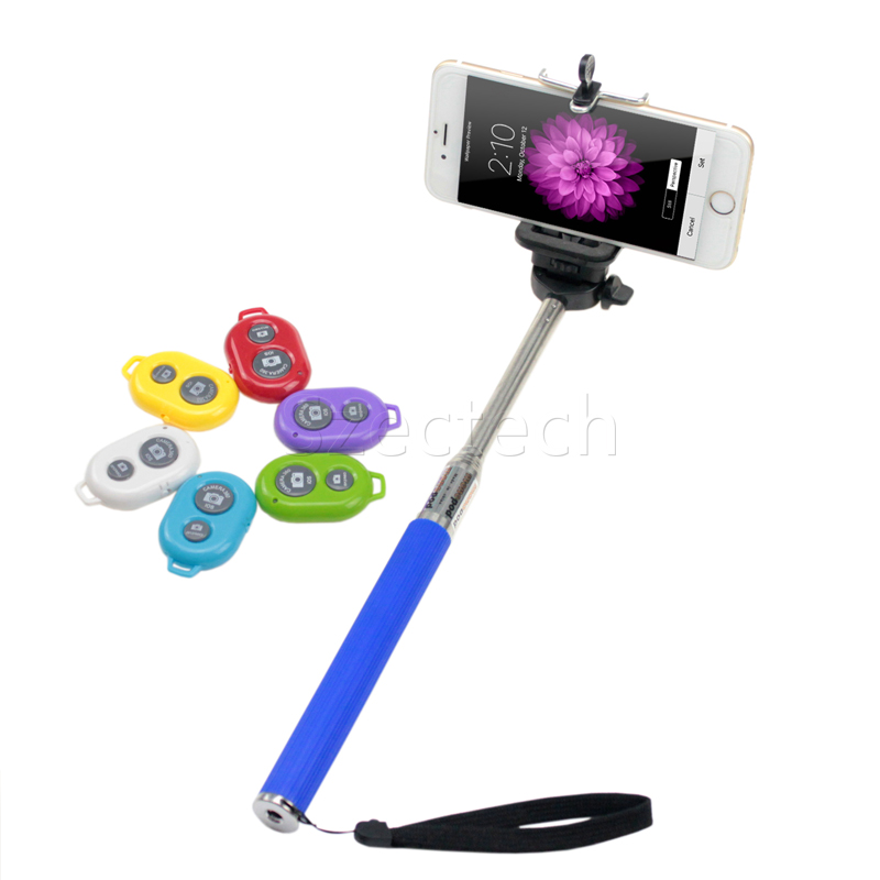 buy extendable selfie stick handheld monopod bluetooth remote shutter camera. Black Bedroom Furniture Sets. Home Design Ideas