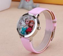 New Cartoon Children Watch Princess Elsa Anna Watches Fashion Girl Kids Student Cute Sports Analog Wrist Watches