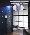 Bathroom Chrome Waterfall Bubble and Rain Hand Shower Bath Shower Head Free shipping H002