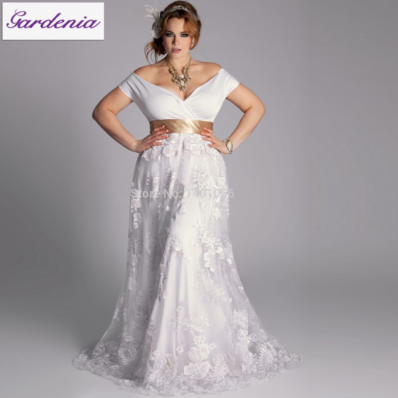 Robe de mariage 2015 wedding dresses for big ladies off for Wedding dress for fat