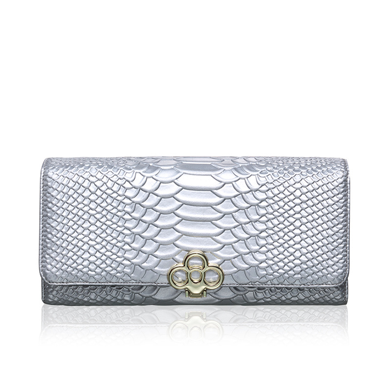 Fashion Genuine Leather Wallet Women Luxury Brand Designer Wallets Cow Ladies Crocodile Printing - eShop Online Store store