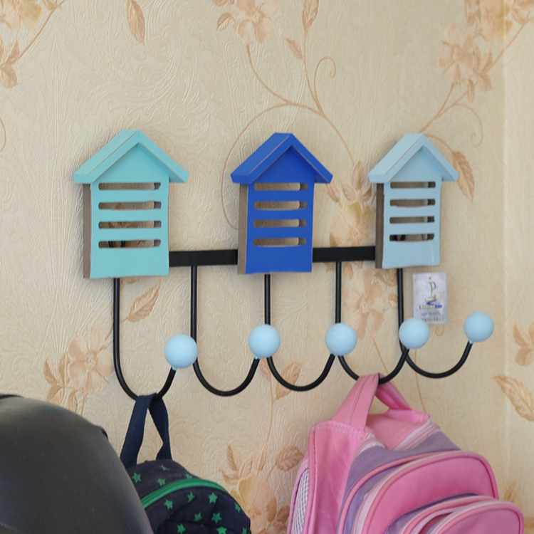 The Mediterranean-style creative fashion Wall door back home decorative wooden hooks lovely room Hooks(China (Mainland))