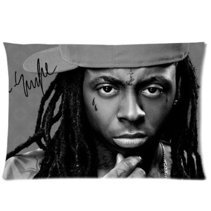 Hot Sales Lil Wayne Soft Pillowcase Good Quality Pillow Case Covers 20X30(One Side)(China (Mainland))