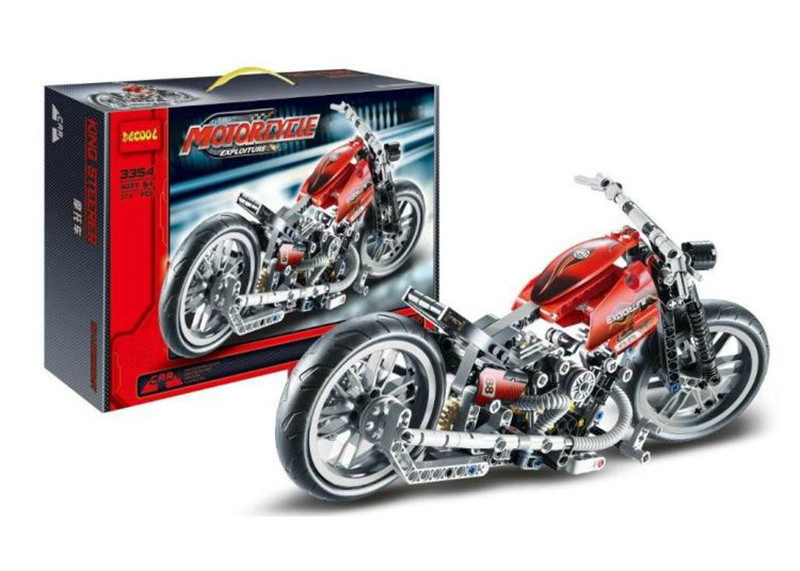 Decool 3354 Technic Motorcycle Exploiture Model Harley Vehicle Building Blocks Brick Educational Toys Compatible  8051