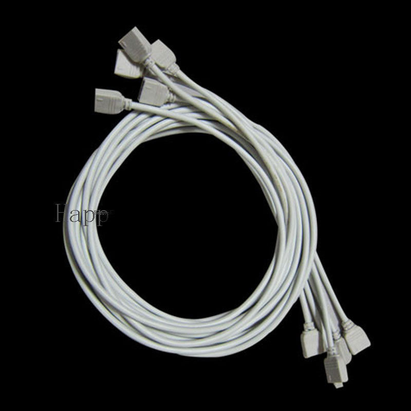10X 1M RGB Extension Cable with 4 PIN Connector Cord For 3528 5050 RGB LED Strip(China (Mainland))