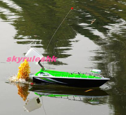 Hot RC Fishing remote control bait Boat Skyrules F2 Towing hook Head light Car Charger 3 Hours Green controle remoto ship(China (Mainland))