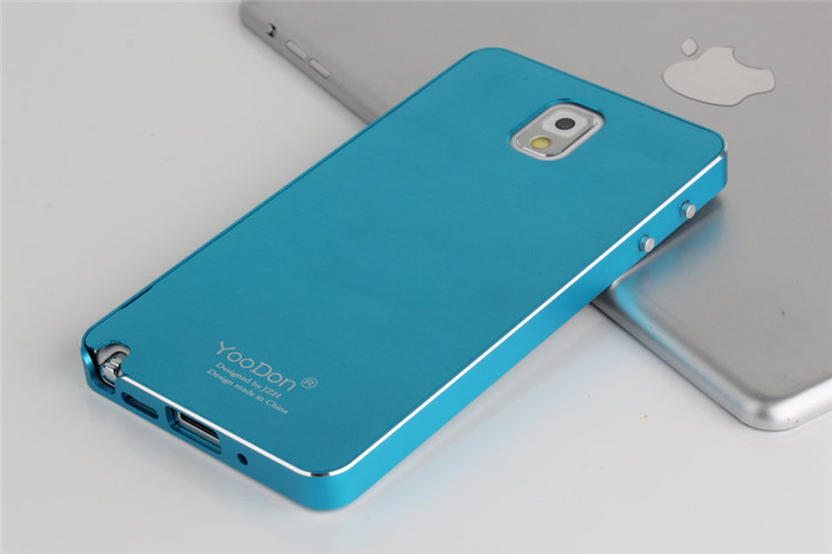 New Arrival Ultrathin Matting Metal Surface Aluminum Frame Case Cover+Steel Front Screen Protector For Samsung Galaxy Note 3 III(China (Mainland))