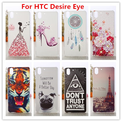 For HTC Desire Eye Case /Luxury Crystal Diamond 3D Bling Hard Plastic Cover Case For HTC Desire Eye M910X Phone Cases(China (Mainland))