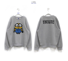 2015 New Yellow Minion Sweatshirt  Minion Hoodies Boys Hoodies And Sweatshirts Parentage Clothes 2-7y  Boys Minions Clothes A023(China (Mainland))