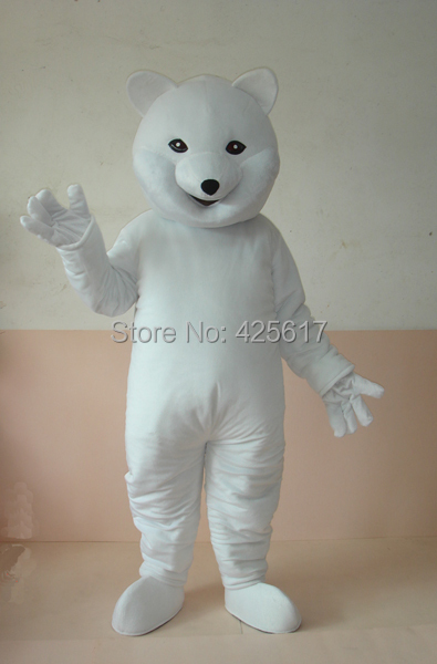 Hot selling!New classic smile bear polar man Cartoon Fancy Dress Suit Outfit Animal Mascot Costume - Sam's World store
