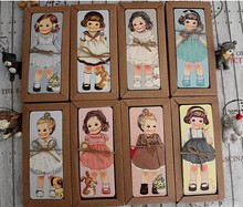 New girl doll mate series Bookmark set / paper bookmarks/ book holder / message card / 30 piece per Kraft package(China (Mainland))