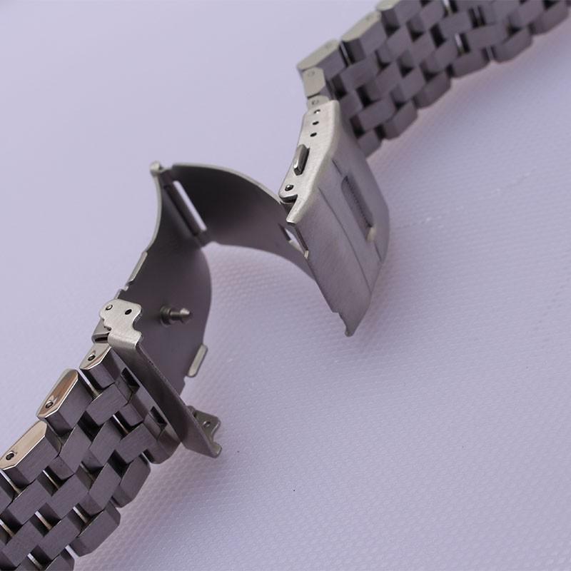 Нержавеющая сталь Ремешок Для Часов твердые ссылки металл ремень безопасности пряжка серебро черный 18 мм 20 мм 22 мм 24 мм 26 мм аксессуары новое