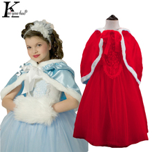 Buy 2017 Girls Princess Anna Elsa Cosplay Costume Kids Party Dress Dresses Christmas Costume New year children clothing girl dress for $8.99 in AliExpress store
