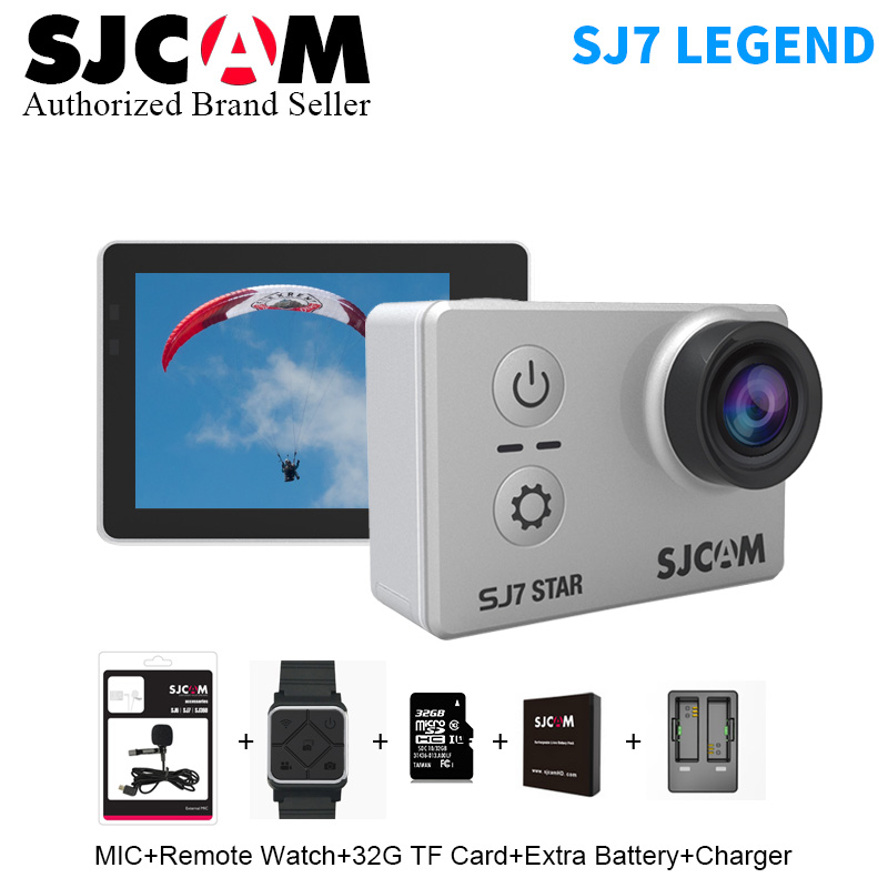"Genuine Original SJCAM SJ7 Star 4K 30fps Ultra HD Action Camera Ambarella A12S75 2.0"" Touch Screen Waterproof Remote Sport DV"