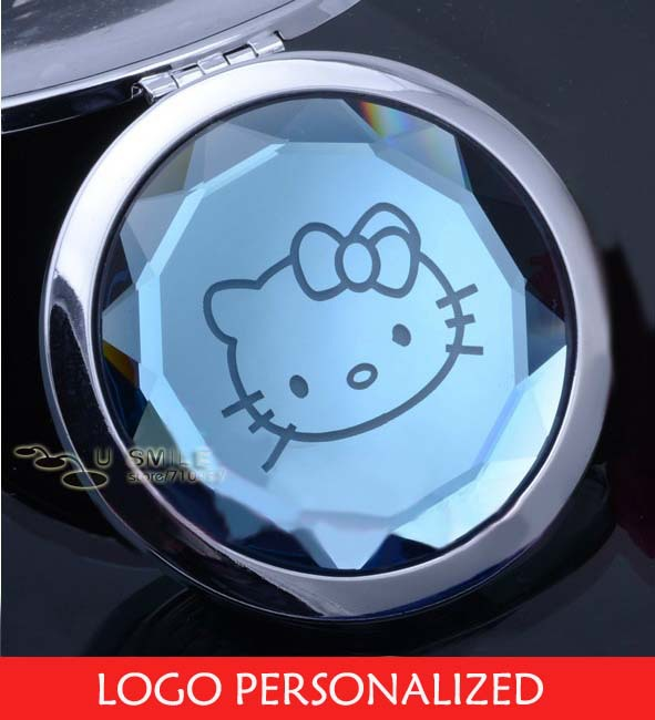 Cosmetic pact Mirror With Logo Personalized Free