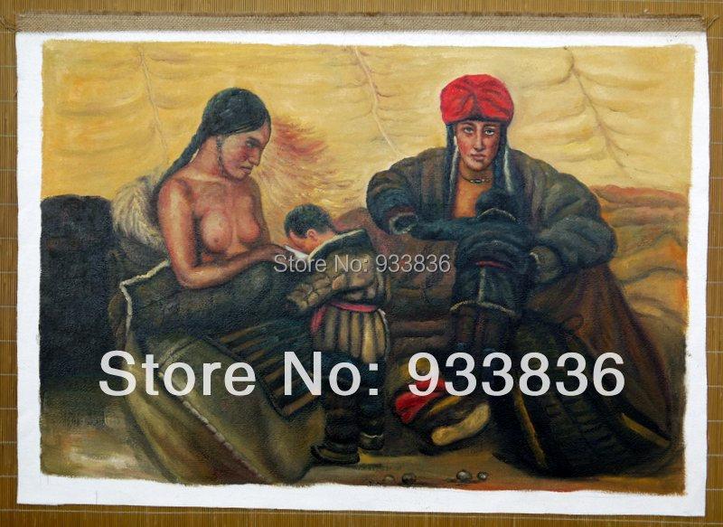 "Здесь можно купить  oil painting canvas Family 24x36"" Contemporary modern Chinese figure big art   Дом и Сад"