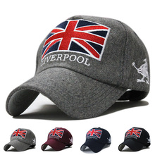 Free shipping 2015   baseball cap season fashion wave of people   warm hat British Union Jack embroidered woolen  BQ0Y01