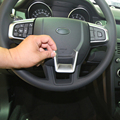 Car Interior Accessories ABS Chrome Steering Wheel Cover Trim for Land Rover Discovery Sport 2015 Car