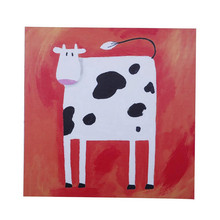 Buy Hand-painted Animal Oil Painting Canvas Abstract Funny Cow Paper Home Decor Wall Art Picture Handmade Red Acrylic Paintings for $20.25 in AliExpress store