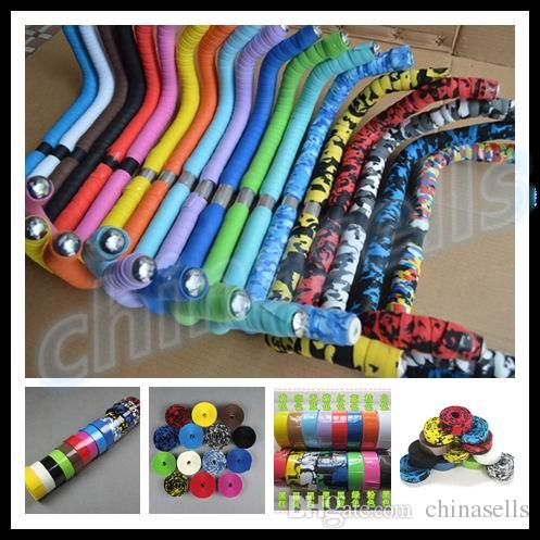 Hot Sale!2016 New 17 Colors Camouflage Cycling Handle Belt Road Bike Bicycle Cork Handlebar Tape Wrap with Bar Plugs bike tape<br><br>Aliexpress