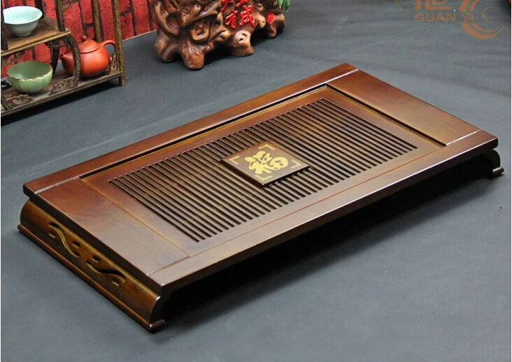 67cm*37cm*7cm Big Size Chinese Solid Wooden Tea Tray House Hold Tea Board Exquisite Workmanship(China (Mainland))