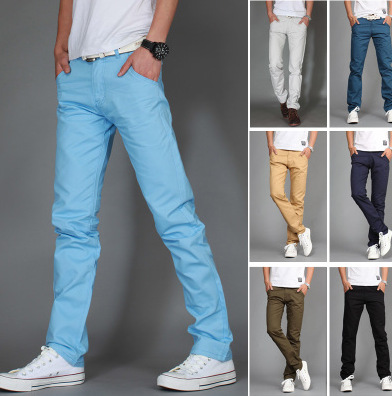 Promotion men fashion 10 colors casual pants yonun men pants free shipping(China (Mainland))