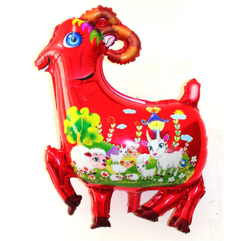 78x60cm wholesale retail balloons animal printed party sheep balloons globos hot quality inflatable helium animal foil balloons(China (Mainland))
