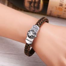 Buy Wolf Logo Bracelets women& men Hot Game Final Fantasy Weave Leather bracelet Friendship bangles 2017 Fashion Jewelry for $1.34 in AliExpress store