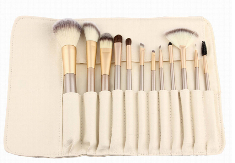 Makeup Brush Set With Gold