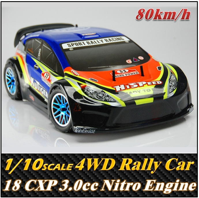 HSP Ford 1/10 Scale 18cxp 3.0cc Nitro Engine 4WD On-Road Rally car , Rc Racing Car toys ,Free shipping(China (Mainland))