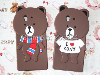 For Sony Xperia Z case New Cartoon LINE Bears silicone back phone cases covers for Sony Xperia Z L36h case C6602 C6603 Soft Case(China (Mainland))
