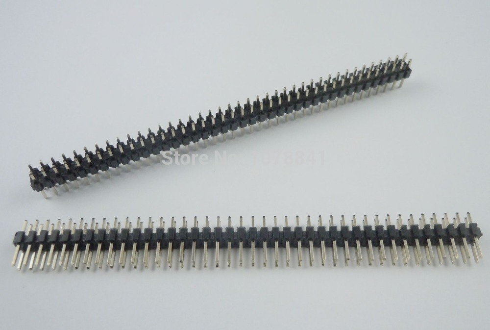 100 Pcs Per Lot Pitch 2mm 2x40 Pin Straight Male Double Row Pin Header Strip<br><br>Aliexpress