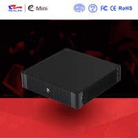 New arrival High Quality fanless Mini PC intel quad core processor Mini Industrial PC with HDMI+VGA windows linux Android