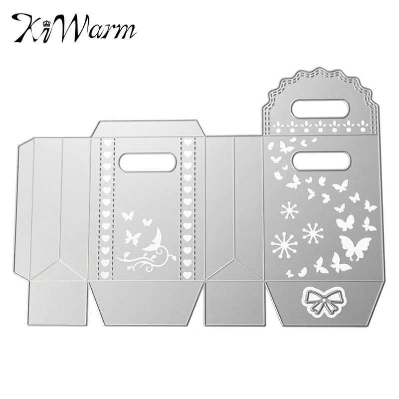 KiWarm Butterfly Nice Gift Box Package Metal Cutting Dies Stencils for DIY Scrapbook Album Decorative Paper Card Embossing Craft(China (Mainland))